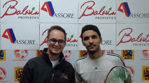 Mazen Gamal with Balwin Sponsor, Slade Brookes