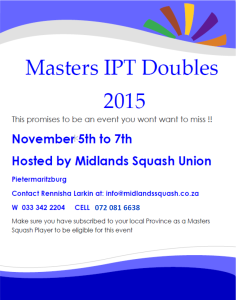 Masters doubles 2015 poster