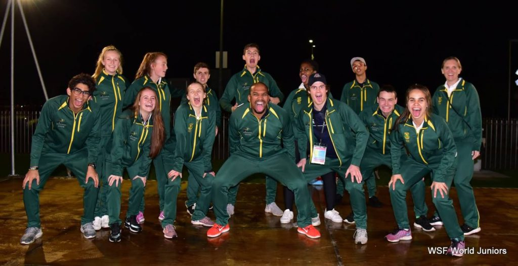 Team SA u19 worlds Haka